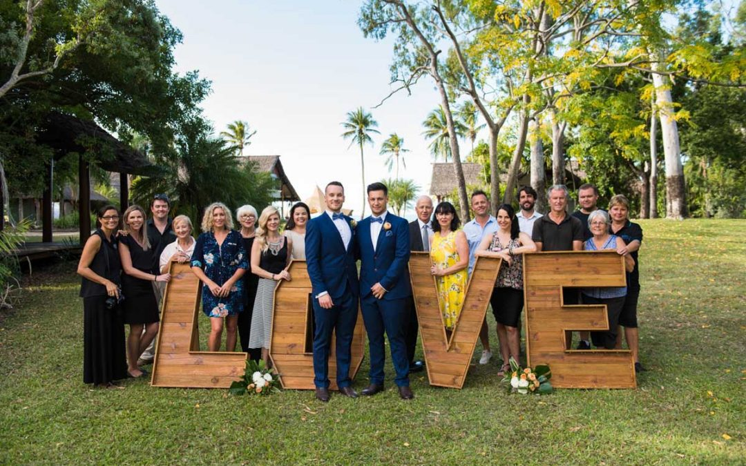 Josh and Josh – The Whitsunday Wedding Giveaway Wedding Day