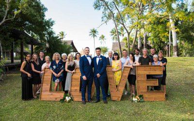 Josh and Josh – The Whitsunday Wedding Giveaway Wedding Day